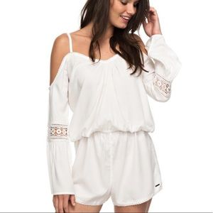 Roxy Island Joy Romper in Marshmallow NWOT
